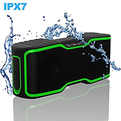 Waterproof IPX7 Wireless Bluetooth Speakers,AOMAIS Sport Outdoor/Shower Portable Bluetooth Speakers with 10W Enhanced Bass,Built-In Microphone for iphone/ipad/ipod/Android phone