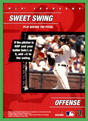 (2002 MLB Showdown Strategy #S22 Sweet Swing Barry Bonds SAN FRANCISCO GIANTS)