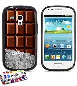 Carcasa Flexible Ultra-Slim SAMSUNG GALAXY S3 MINI ( I8190 ) de exclusivo motivo [Chocolate] [Negra] de MUZZANO  + ESTILETE y PAÑO MUZZANO REGALADOS - La Protección Antigolpes ULTIMA, ELEGANTE Y DURADERA para su SAMSUNG GALAXY S3 MINI ( I8190 )