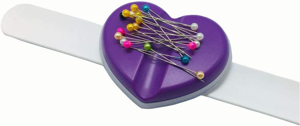 YEQIN Magnetic Pin Pincushion Pin Storage Caddy Sewing Tools with 15 Point Pins