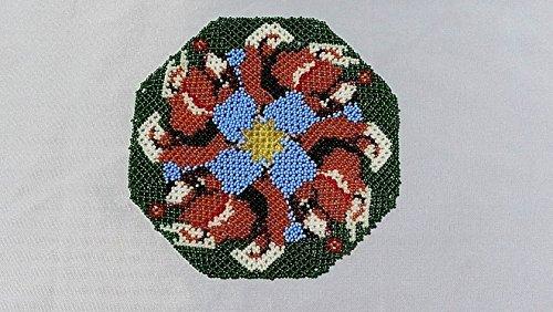 Beaded beagle doily (Beagle Tapestry)