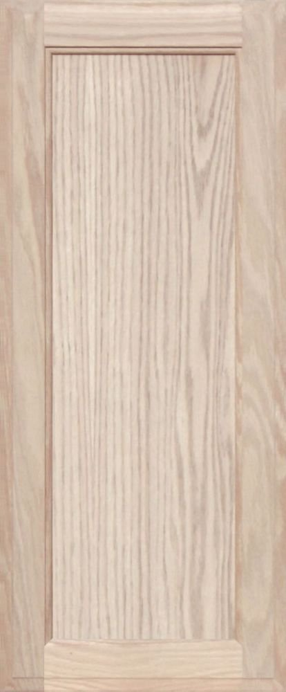 Unfinished Oak Square Flat Panel Cabinet Door by Kendor 29H x 12W