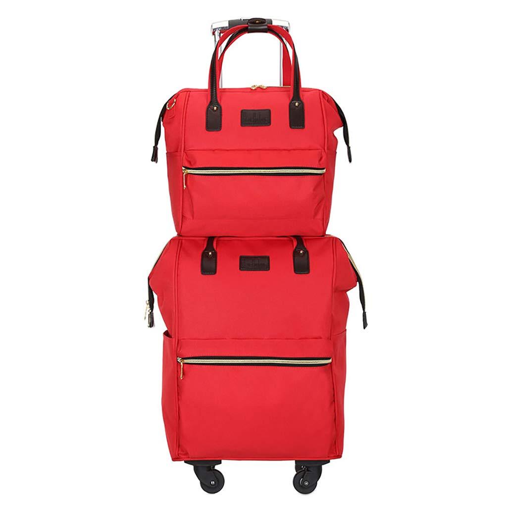 スーツケース トロリーケース4輪多機能出張旅行アウトドアトロリーバッグバックパック高容量ライトトラベルバッグドラッグバッグハンドバッグトランク旅客ボックス (色 : C, サイズ さいず : 52*35*22CM/30*22*30CM) 52*35*22CM/30*22*30CM C B07KY7NVQG