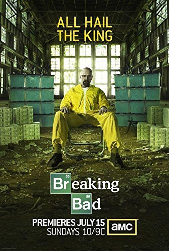 makeuseof Gnew arrival hot sale Breaking Bad All Hail The King TV Poster Home Decor Poster shipping free / 24X36 Inch / Art Silk Poster