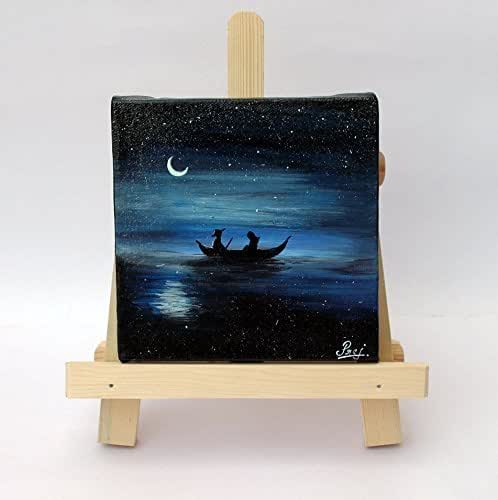 Amazon Com Quot Romantic Boat Ride Quot Mini Canvas Acrylic