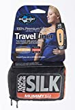 Sea To Summit Premium Silk Travel Liner - Navy Blue Mummy with Hood