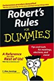 img - for Robert's Rules For Dummies by C. Alan Jennings (2004-12-24) book / textbook / text book