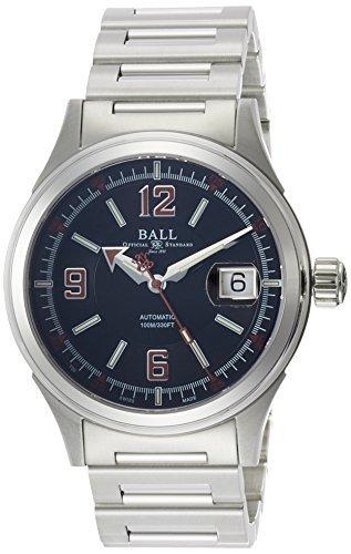 Bola de bola de [reloj] reloj reloj Stoke hombre Racer negro ~ rojo Dial
