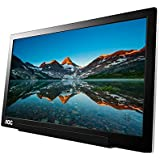 AOC i1601fwux 16-Inch IPS Extremely Slim USB-C Powered Portable Monitor, 1920x1080 Res, 5ms, Smart Cover/Stand