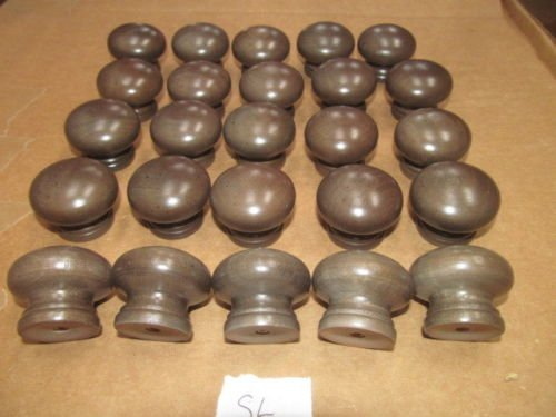 Twenty-Five (25) New Factory Maple Finished KNOBS Various Colors 1 1/4'' X 1 1/2'' (Slate SL) …
