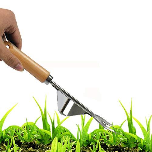 1PC Hand Weeder Tool Multifunction Weeder Weeding Fork Stainless Steel Hand Weeder Transplant Garden Hand Weeder Premium…