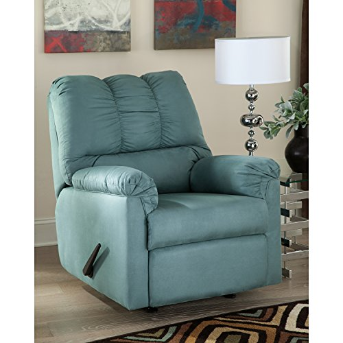 Rocker Blue Sky - Flash Furniture Signature Design by Ashley Darcy Rocker Recliner in Sky Microfiber