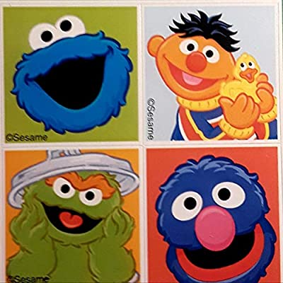 USPS 2020 Sesame Street Sheet of 16 Forever Stamps with Set of 4 Stickers Bundle (2 Items): Office Products
