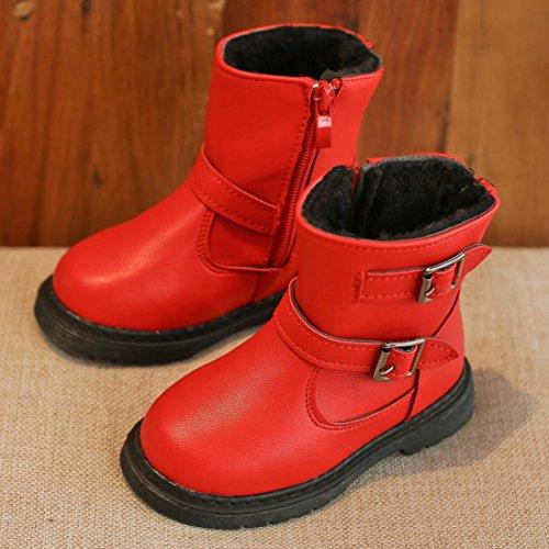 Schuhe Sneaker Kinder Casual Rot Schnee Martin Mädchen Baby Hunpta Mode Dick Winter 1vzIdIqPn