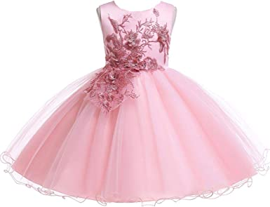 LZH Baby Formal Dress Girls Tutu Lace Birthday Party Wedding Pageant Easter Dresses