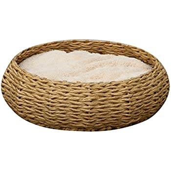 """Round paper rope bed w/Pillow - PetPals  Paper Rope Round Bed, 8 x 8 x 11"""""""