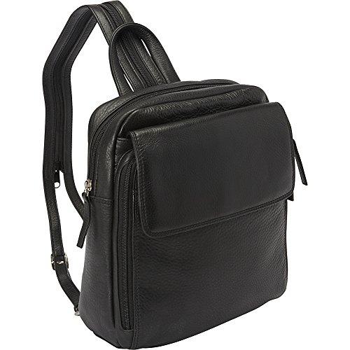 Derek Alexander Top Zip Sling Backpack (Black)