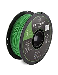 HATCHBOX 3D PLA-1KG1.75-GRN PLA 3D Printer Filament, Dimensio...