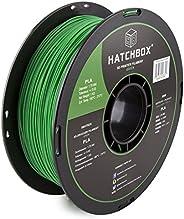 HATCHBOX PLA 3D Printer Filament, Dimensional Accuracy +/- 0.03 mm, 1 kg Spool, 1.75 mm, Green