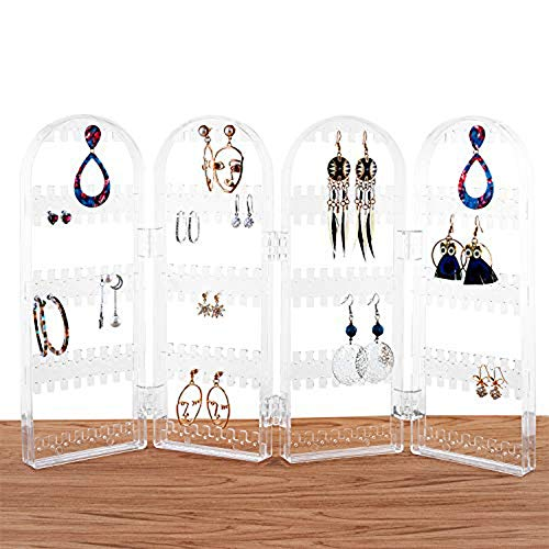(QILICHZ Arch Jewelry Hanger Organizer - Foldable Acrylic Earring Organizer, Necklace Holder & Bracelet Holder Folding Display Stand Shows )