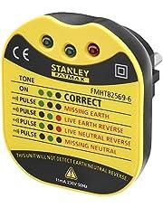 Stanley Fmht82569-6 Tester voor wandstopcontact, serie FatMax – spanning 230 V – leds voor verschillende informatie