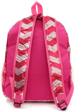 Chevron Sequins Backpack bookbag Hp