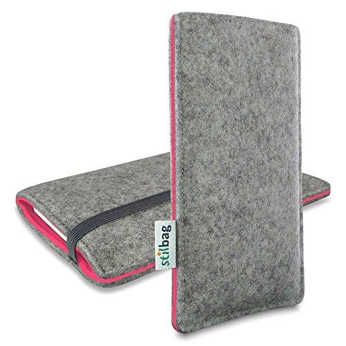 Stilbag Filztasche 'FINN' für Apple iPhone 6s plus- Farbe: hellgrau/lachs