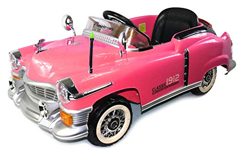 amazoncom classic 1912 coupe cruiser childrens kids electric powered rechargeable remote control ride on car w mp3 player control by steering wheel or
