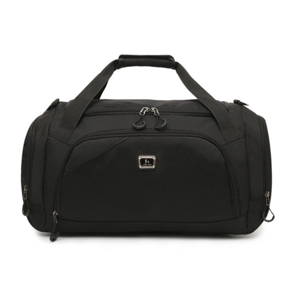 Waterproof Men Sports Gym Bag Leisure Yoga Fitness Shoulder Bag Women Travel Handbag Training Duffle Bags Black