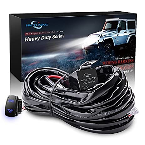 515qa5ELmML._SY463_ amazon com mictuning hd 300w led light bar wiring harness fuse 40 Painless Wiring at gsmx.co
