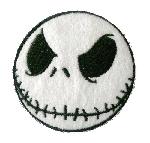 Nightmare Before Christmas Embroidered Iron on Patch Set of 5