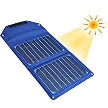 Solar Charger , 10Watts Outdoor Battery Foldable Pack with 8000mAh External Power Bank W/LED Torch for iPhone 6/6 Plus , iPad Air 2/mini 3 , Samsung Galaxy S7 S6 Edge and more USB support Devices