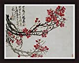 'PLUM BLOSSOMS' Tree Floral Oriental Decor art FRAMED PRINT - Wu Changshuo 23x28