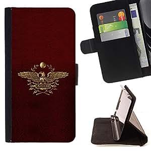 BullDog Case - FOR/LG G2 D800 / - / Eagle Leaves Majestic Crest /- Monedero de cuero de la PU Llevar cubierta de la caja con el ID Credit Card Slots Flip funda de cuer