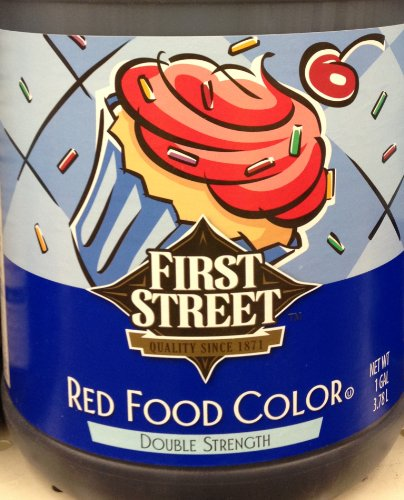 1 Gallon Red Food Color Double Strength (3.78 Liter Total) by First Street (Pack of 1)
