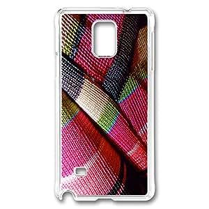 VUTTOO Rugged Samsung Galaxy Note 4 Case, Textile Hardshell Case for Samsung Galaxy Note 4 N9100 PC Transparent