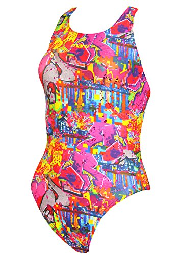 Maru Womens Graffiti Sky Swimsuit Size 36