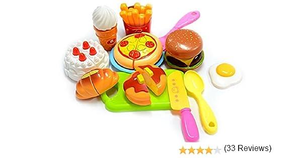 ZeroShopTM Plastic Children Kids Cutting Birthday Party Kitchen Food Pretend Play