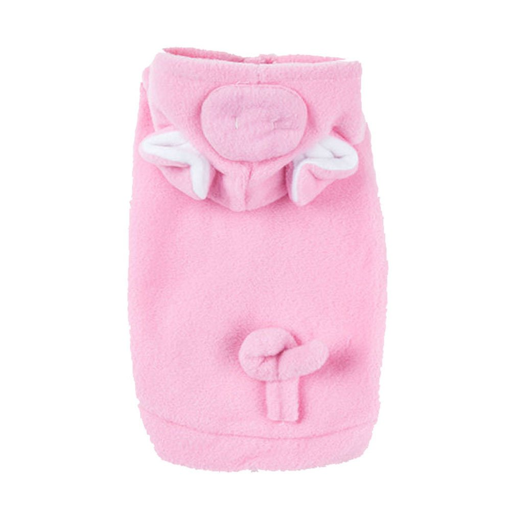 amazoncom pig dog pet halloween costumes dog apparel hoodies with warm fleece pink large pet supplies