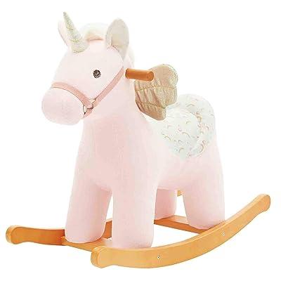 labebe Baby Rocking Horse - White Alpaca Baby Plush Rocker Toys, Plush Wooden Riding Horse for 1-3 Years Boy&Girl, Toddler Outdoor&Indooor Toy Rocker, Plush Animal Rocker, Infant Gift Alpaca : Garden & Outdoor