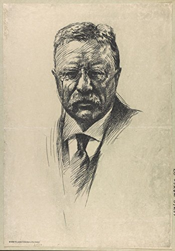 Historic Photos 1919 Photo Theodore Roosevelt, bust portrait, facing front Print of etching shows portrait of Roosevelt. (Roosevelt Bust)