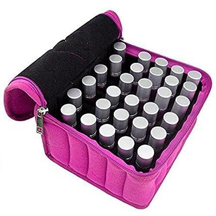 30 compartimentos portátiles aceites esenciales maletín de transporte botellas de aceite porta contenedores rodillo botellas de