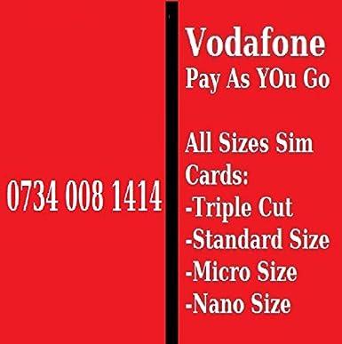 Vodafone Reino Unido Golden número fácil de recordar Pay as you go ...