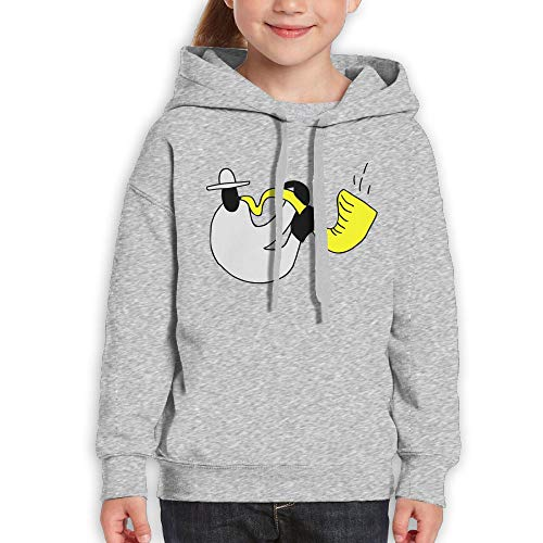 Qiop Nee Interesting Jazz Saxophonist Kids Hoodies Long Sleeve Sweatshirt for Girls by Qiop Nee