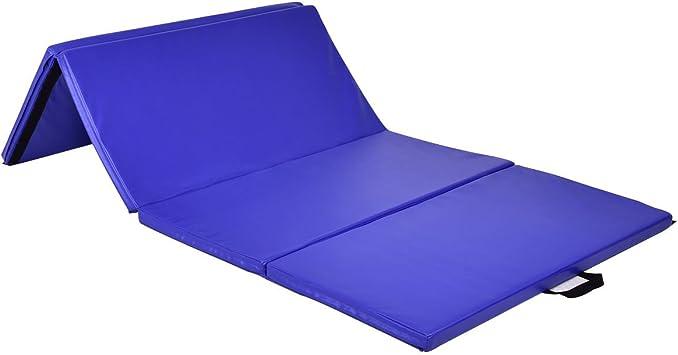 Colchoneta plegable MAT EXPERT para ejercicios, gimnasia rítmica, de 121 x 243 x 5 cm, Azul: Amazon.es: Deportes y aire libre