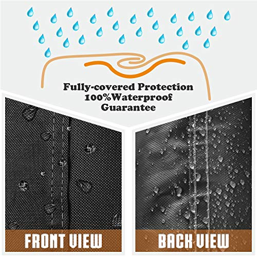 Leader Accessories Durable Universal Waterproof Generator Cover (31'' Lx 29'' Wx 28'' H, Black) by Leader Accessories (Image #3)