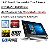 2018 Newest Flagship HP X360 15.6 Inch Full HD Touchscreen 2-in-1 Convertible Laptop with Stylus Pen (Intel Core i5-7200U