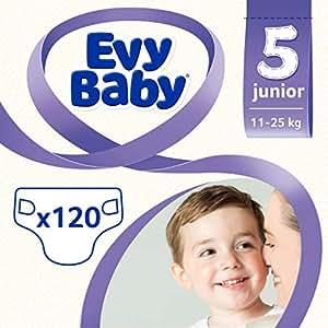 Evy Baby Bebek Bezi, Junior 5 Beden, 120 Adet