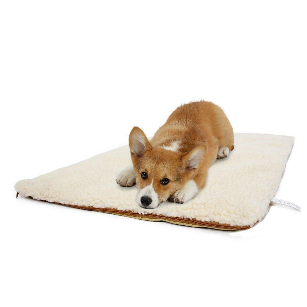 Hu cama de perro Fuzzy cojín manta mascota Pad caseta exterior portátil extraíble lavado grande perro lámpara W~W: Amazon.es: Productos para mascotas