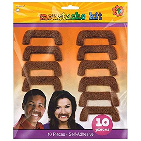10 Ct. 80s Party Mustaches